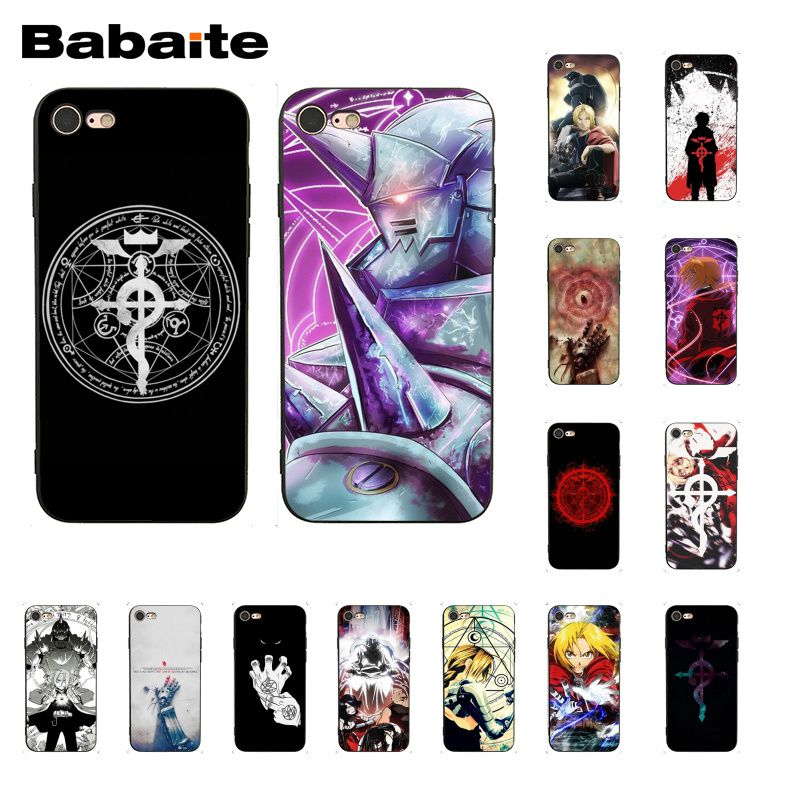 Full Metal Alchemist Brolija Anime Telefono dėklas skirtas iphone 11 12 Pro Max X XS MAX 6 6S 7 7plus 8 8Plus 5 5S XR 12mini