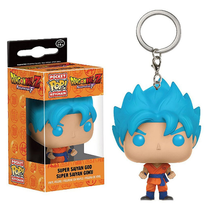 FUNKO POP Anime Dragon Ball VEDŽITAS Super Saiyan Gokas Gotenks Beerus Kišenėje Keychain Veiksmų Skaičius, Žaislai Vaikams Kalėdų Dovana